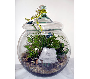 Terrarium with Memory Stone in Crafton PA, Sisters Floral Designs