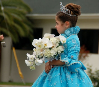 Festa Parade in San Diego CA, Flowers Of Point Loma
