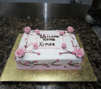 Welcome Home Cake 25 in Gautier MS, Flower Patch Florist & Gifts