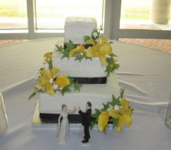 Wedding Cake 28 in Gautier MS, Flower Patch Florist & Gifts