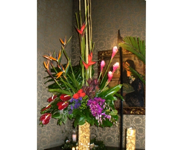 Large Tropical Arrangement (Metro-Detroit Area Onl in Southfield MI, Thrifty Florist