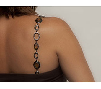 Large Faceted Stone Bra Strap in Pensacola FL, Southern Gardens