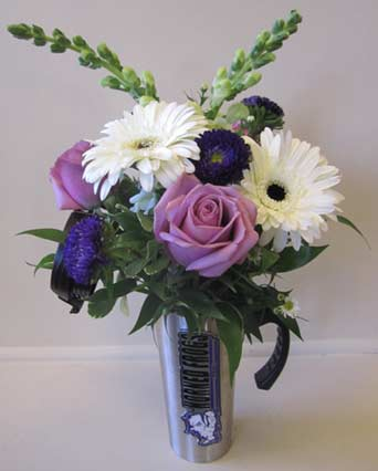 TCU Coffee Thermos & Flowers in Fort Worth TX, TCU Florist