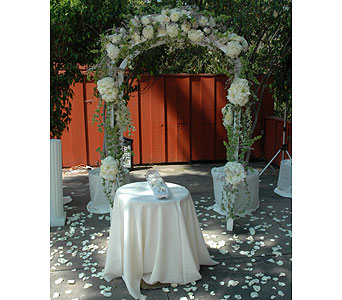 Wedding in West Los Angeles CA, Westwood Flower Garden