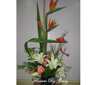 Tropical Surf in Brentwood CA, Flowers By Gerry