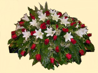 Eternal Promises Casket Spray in Lake Charles LA, A Daisy A Day Flowers & Gifts, Inc.