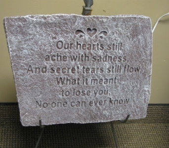 Our Heart Still Aches Stepping Stone in Mankato MN, Becky's Floral & Gift Shoppe