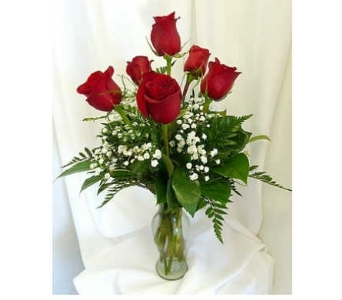 Half Dozen Roses Arranged in Warren MI, Downing's Flowers & Gifts Inc.