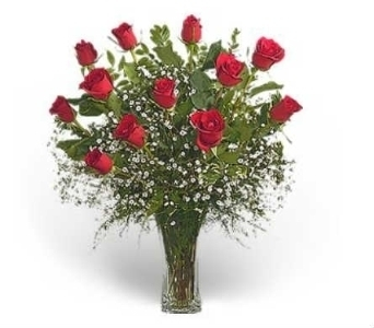 Premium Dozen Red Roses Arranged in Warren MI, Downing's Flowers & Gifts Inc.
