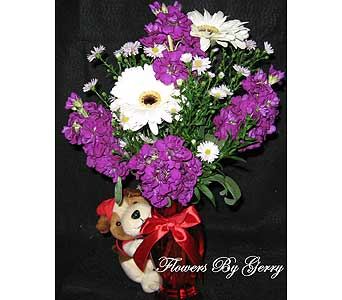 Puppy Love in Brentwood CA, Flowers By Gerry