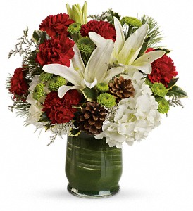 Christmas Collage Bouquet in Bakersfield CA, White Oaks Florist