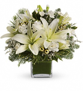 Teleflora's Diamonds & Icicles Bouquet in Bakersfield CA, White Oaks Florist
