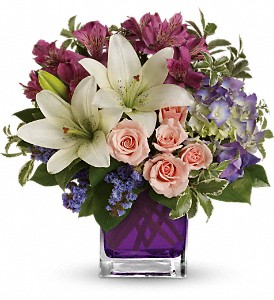 Teleflora's Garden Romance in McHenry IL, Locker's Flowers, Greenhouse & Gifts
