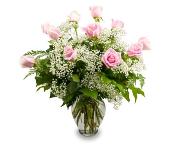Pink Wishes Dozen Rose Bouquet in Las Vegas NV, Tiger Lily Floral