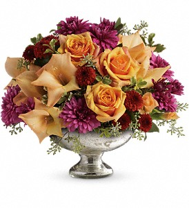 Teleflora's Elegant Traditions Centerpiece in Dublin OH, Red Blossom Flowers & Gifts