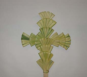 Palm Crosses 24 in Darien CT, Springdale Florist & Garden Center