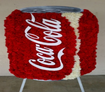 Coca Cola Can in Redlands CA, Hockridge Florist