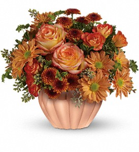 Teleflora's Joyful Hearth Bouquet in North Syracuse NY, The Curious Rose Floral Designs