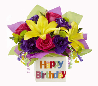 Happy Birthday Bouquet in Baltimore MD, Raimondi's Flowers & Fruit Baskets