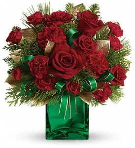 Teleflora's Yuletide Spirit Bouquet in Dubuque IA, New White Florist