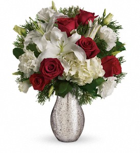 A Christmas Kiss by Teleflora in San Angelo TX, Bouquets Unique Florist