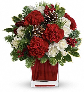 Make Merry by Teleflora in Dubuque IA, New White Florist