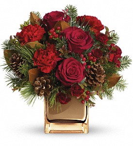 Warm Tidings Bouquet by Teleflora in San Angelo TX, Bouquets Unique Florist