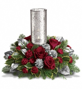 Teleflora's Silver Glow Centerpiece in Perry Hall MD, Perry Hall Florist Inc.