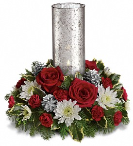 Let's Be Merry Centerpiece by Teleflora in El Cajon CA, Jasmine Creek Florist