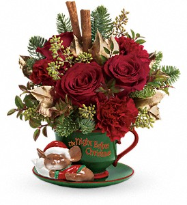 Teleflora's Send a Hug Night Before Christmas in San Angelo TX, Bouquets Unique Florist