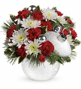 Teleflora's Snowball Surprise Bouquet in South Haven MI, The Rose Shop