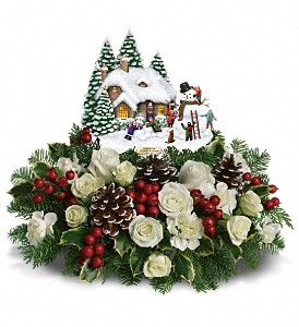 Thomas Kinkade's Snow Time by Teleflora in El Cajon CA, Jasmine Creek Florist