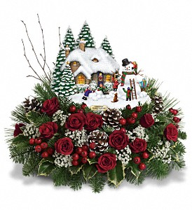 Thomas Kinkade's Winter Wonder by Teleflora in South Haven MI, The Rose Shop