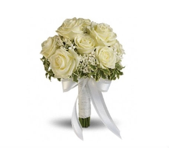 White Rose Bouquet in Charleston SC, Tiger Lily Florist Inc.