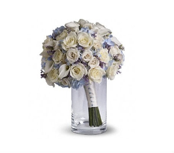 Blue and White Bouquet in Charleston SC, Tiger Lily Florist Inc.