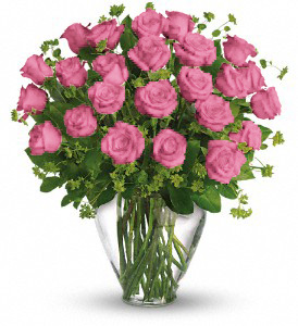 24 PINK ROSES in Orlando FL, Colonial Florist