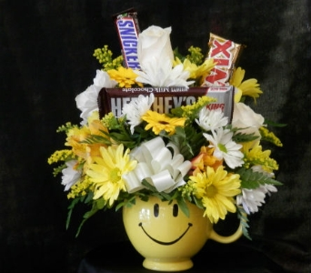 Happy Face Mug with Candy in Mililani Town HI, Mililani Town Florist