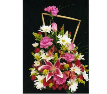 One Sided Spring Arrangement in Mililani Town HI, Mililani Town Florist