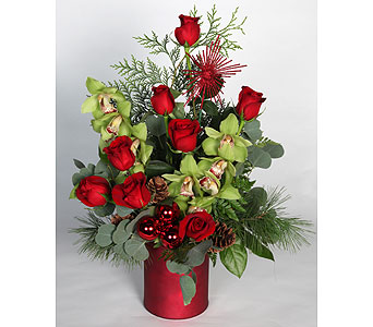 Cymbidium Orchids and Roses in Southampton PA, Domenic Graziano Flowers