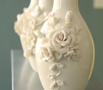 Rose Sculpted Vase in Oshkosh WI, House of Flowers