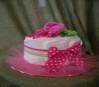 single layer baby girl cake in Crown Point IN, Debbie's Designs