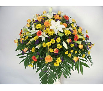 Treasured Remembrance Casket Spray in Indianapolis IN, Gillespie Florists
