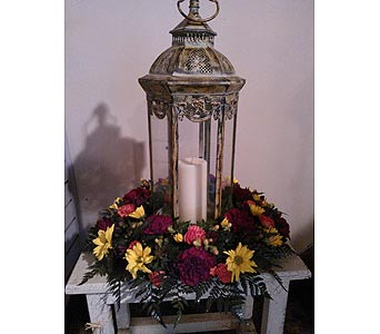 Lantern of flowers in Coraopolis PA, Suburban Floral Shoppe