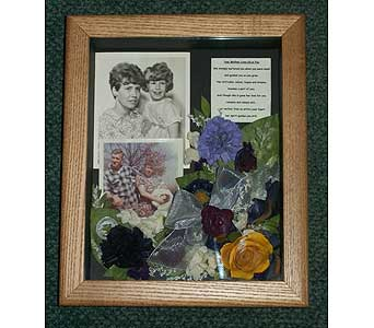 8 x 10 Memorial Shadowbox in Middletown DE, Forget Me Not Florist & Flower Preservation