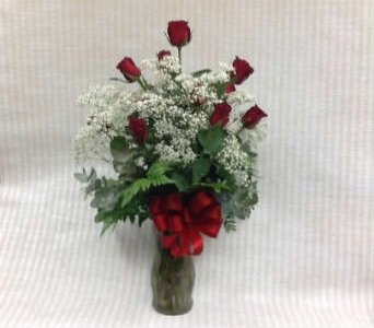 1 Dz. Long Red Roses Arranged in Kailua HI, Pali Florist