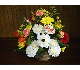 Adorable Dog Basket in Middletown DE, Forget Me Not Florist & Flower Preservation
