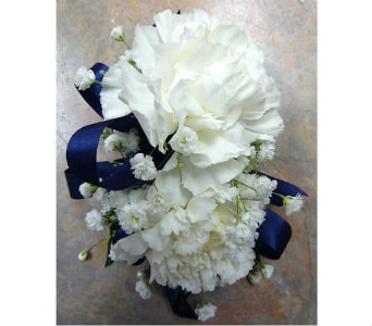Double Carnation Corsage in Warren MI, Downing's Flowers & Gifts Inc.