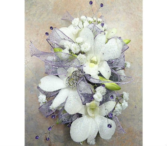 White Dendrobiums Orchids and Rhinestones in Warren MI, Downing's Flowers & Gifts Inc.