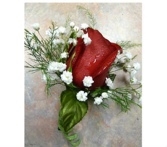 Red Rose Boutonniere in Warren MI, Downing's Flowers & Gifts Inc.