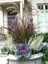 Fall Outdoor Planter - Grass Heather Design in Etobicoke ON, VANDERFLEET Flowers